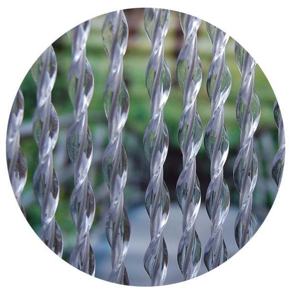 rideau de porte en pvc transparent riva 90x210 cm