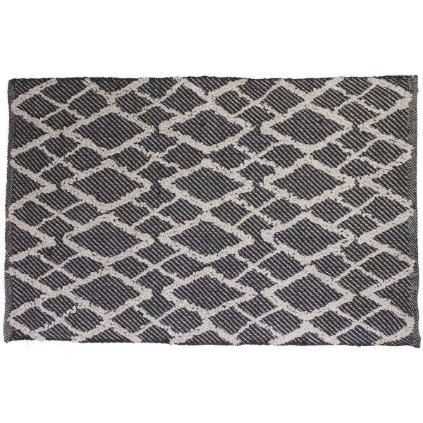 tapis berbere en relief 60x90 cm fond noir