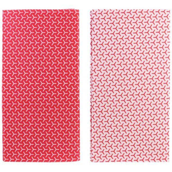 tapis fraicheur pour frigo lot de 2 rouge