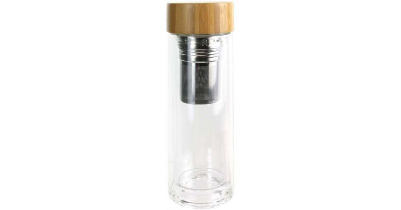 bouteille de transport en verre double paroi avec infuseur a the