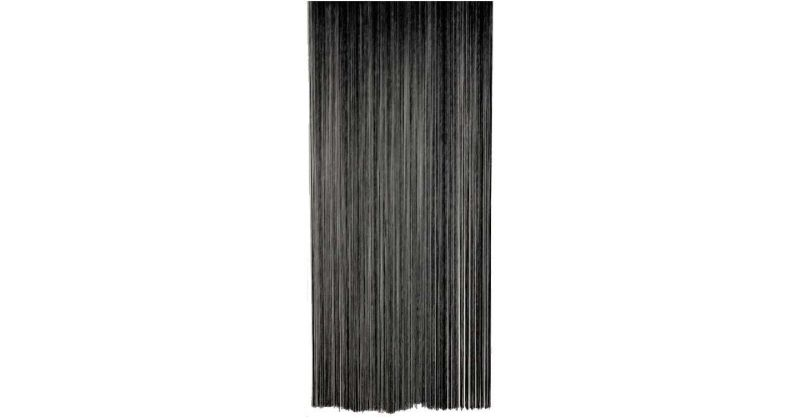 https www jardindeco com rideau fil de porte en polyester noir f 766 13800