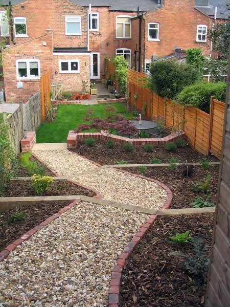 Leafy Retreat - A long, narrow, partially sloping garden ... on Sloping Garden Path Ideas  id=46504