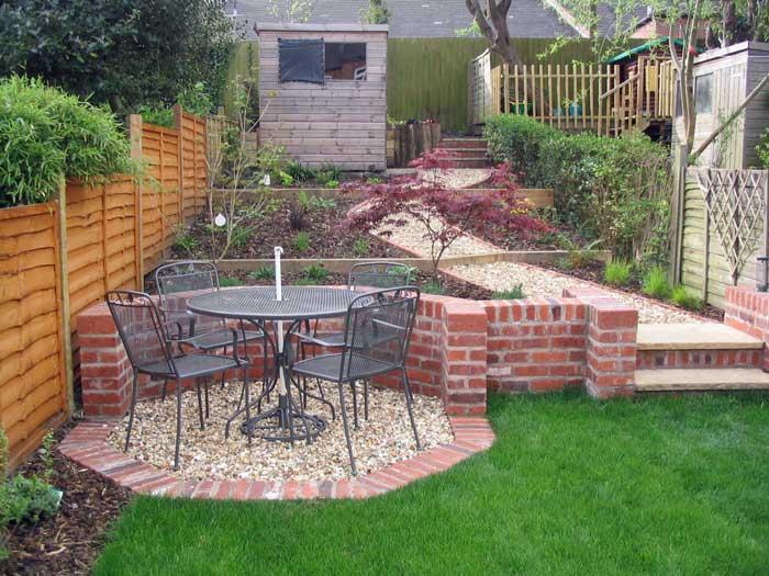 Leafy Retreat - A long, narrow, partially sloping garden ... on Sloping Garden Path Ideas  id=84482