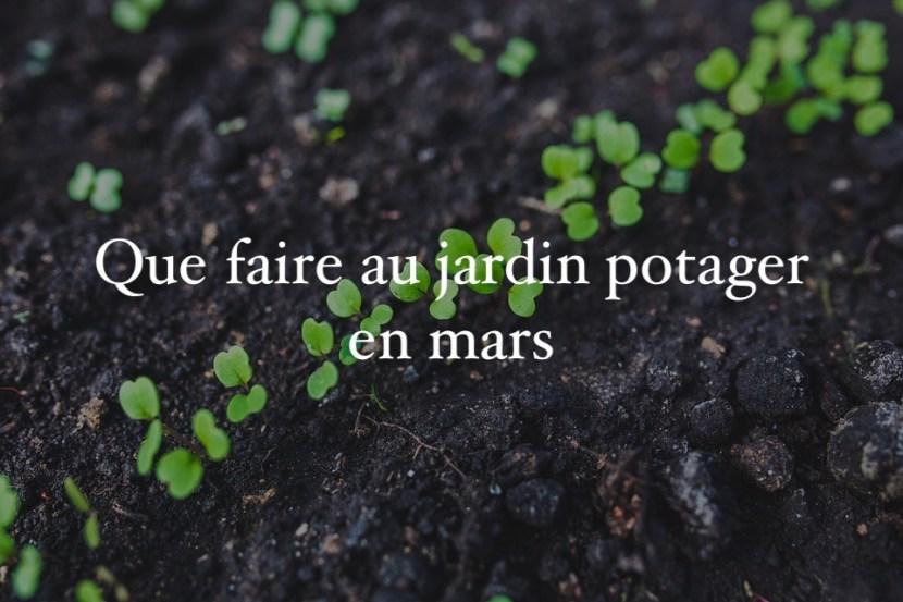 calendrier du jardiner mars