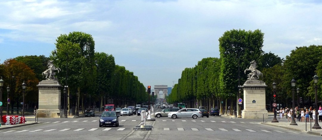 The avenue des champs-elysees is in France