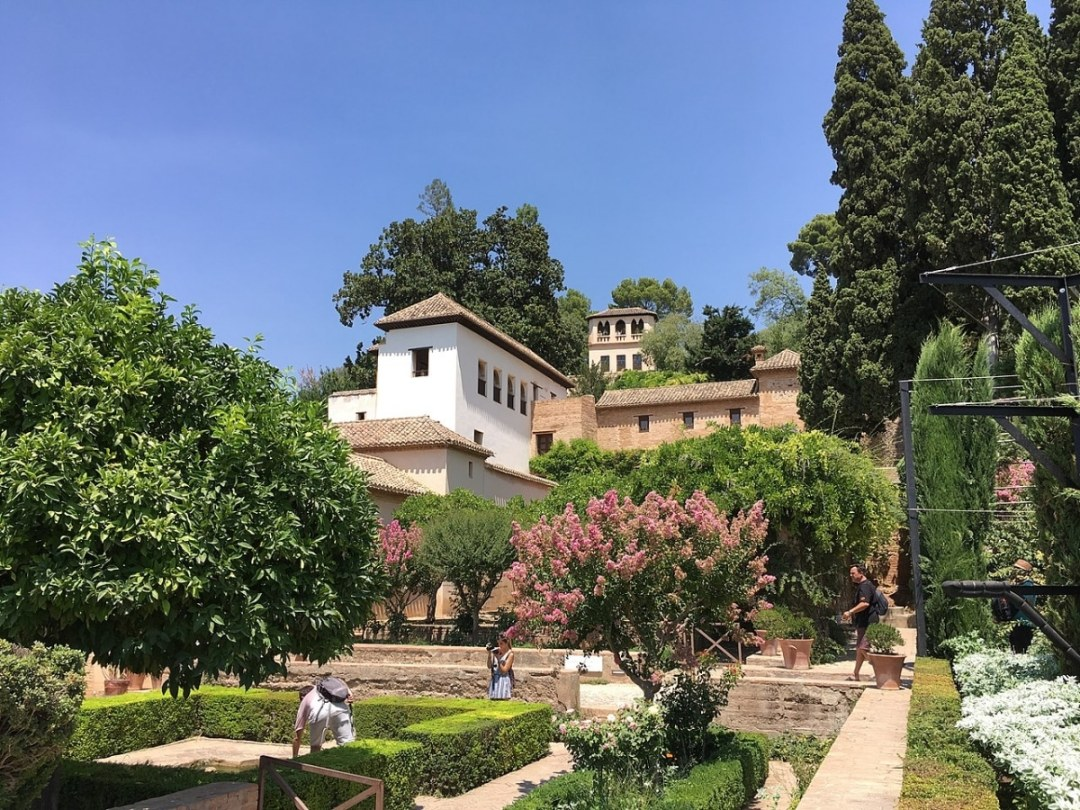 The Generalife is a garden that is located in Granada