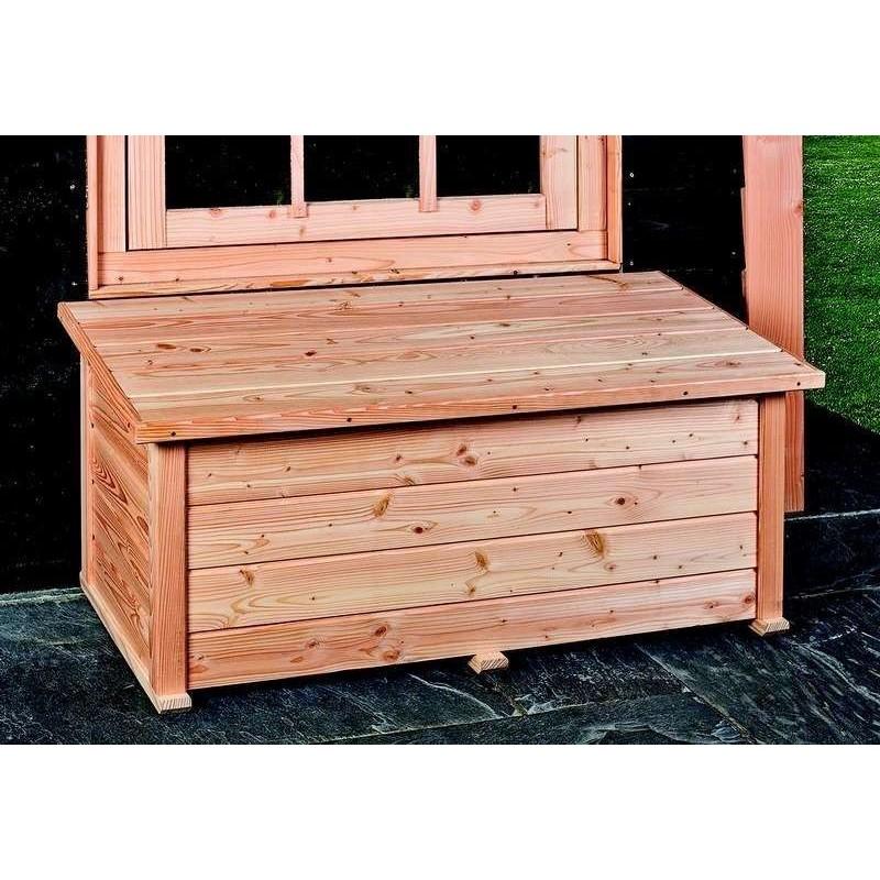 coffre de rangement jardin terrasse exterieur en bois meleze douglas