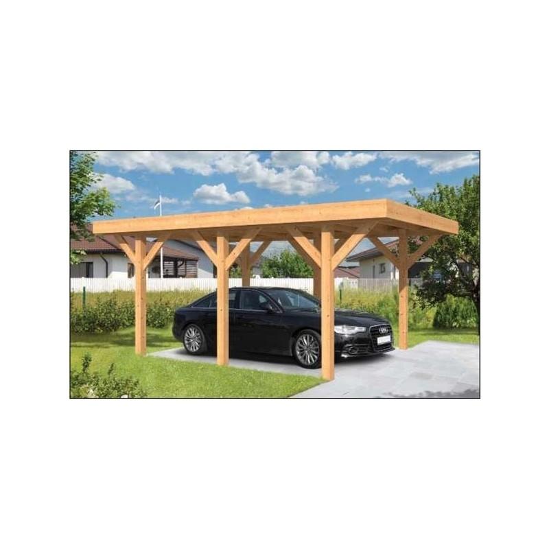 Carport Bois Toit Plat En Mlzedouglas Sloten Garage