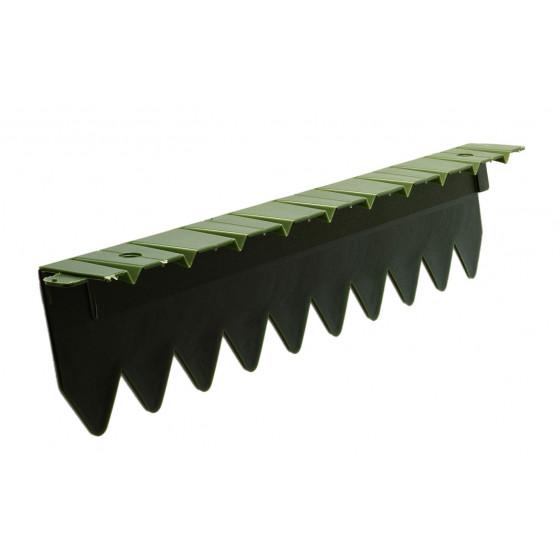 bordure stop herbe avec rebord plat vert fonce