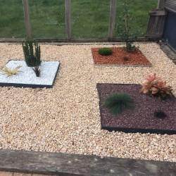 bordure de jardin droite en metal galvanise 99 x 14 cm