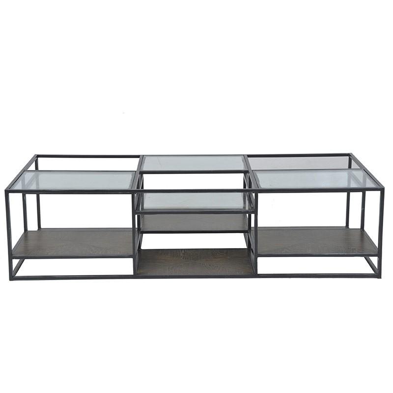 table basse verre 160x40x80cm