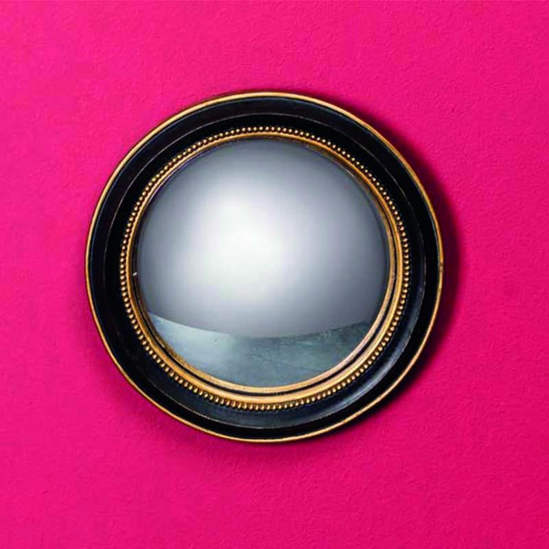 petit miroir convexe bord or 19cm