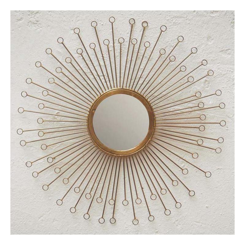 miroir laiton eclat 57cm