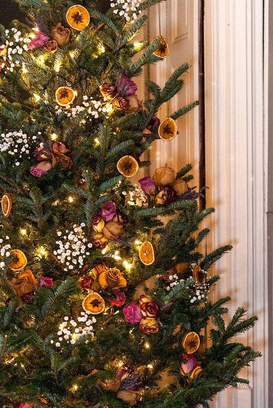 Des oranges en décoration de Noël