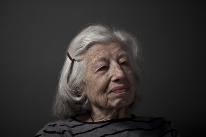 Katherine Noir a Auschwitz survivor at her home on the Upper West Side of New York. Katherine is now completely blind.