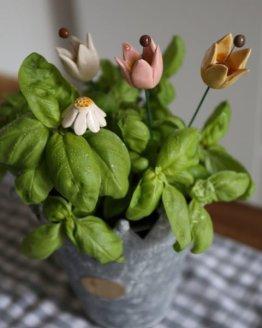 decoro floreale da vaso