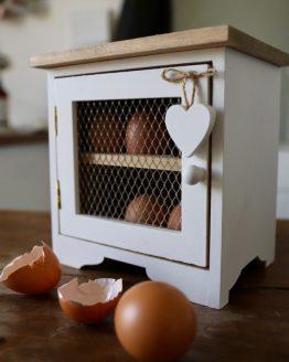 porta uova legno