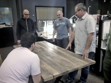 Reclaimed Wood Table For Converse HQ