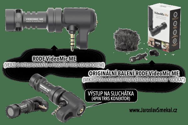 Klopový mikrofon R0DE VideoMic ME pro mobilní telefony, www.JaroslavSmekal.cz