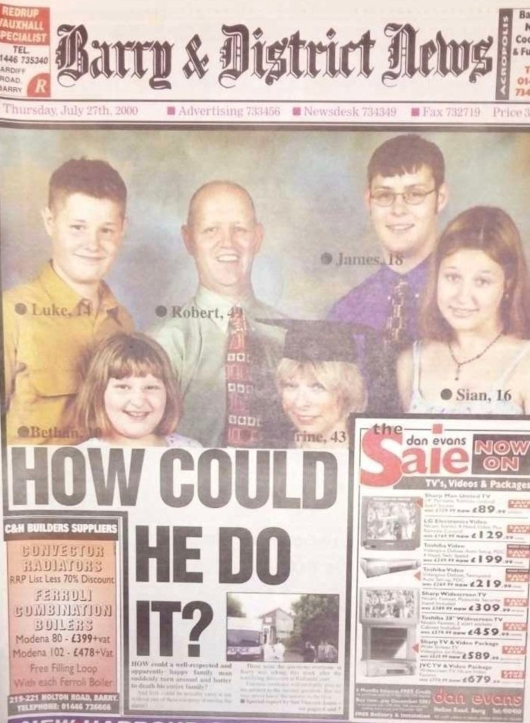 Barry & District News headline about the Mochrie murders