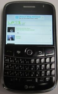 LP33.TV App Running on Blackberry Bold 9000