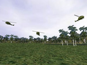 Virtual Vietnam PTSD Therapy Helicopter Flyby