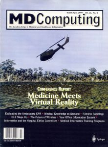 Virtual Vietnam PTSD Therapy System MD Computing Magazine Cover March-April 1999