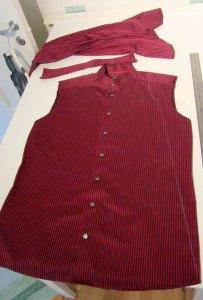 Tillklippning skjortklänning