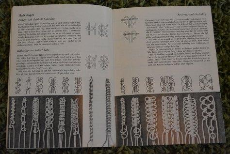 Uppslag ur boken Makramé