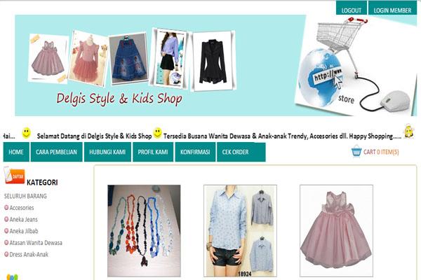 toko online, toko pakaian, php, mysql