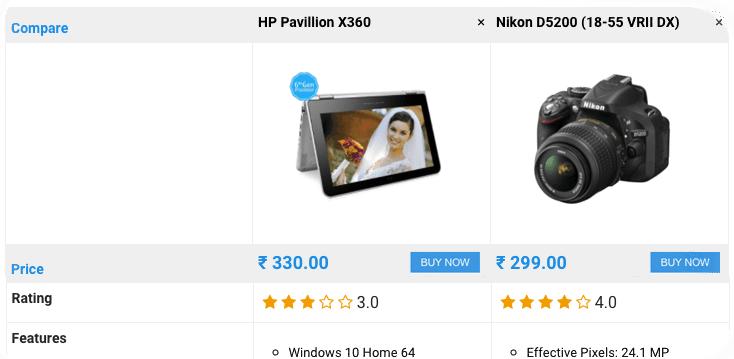 product compare