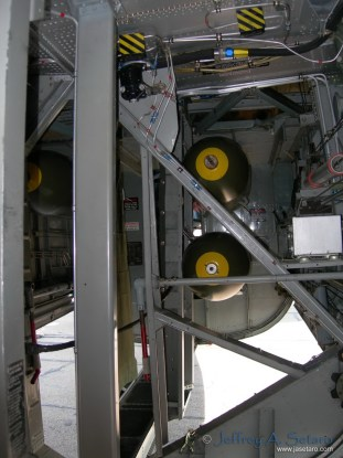 A peak inside the Witchcraft's bomb bay.
