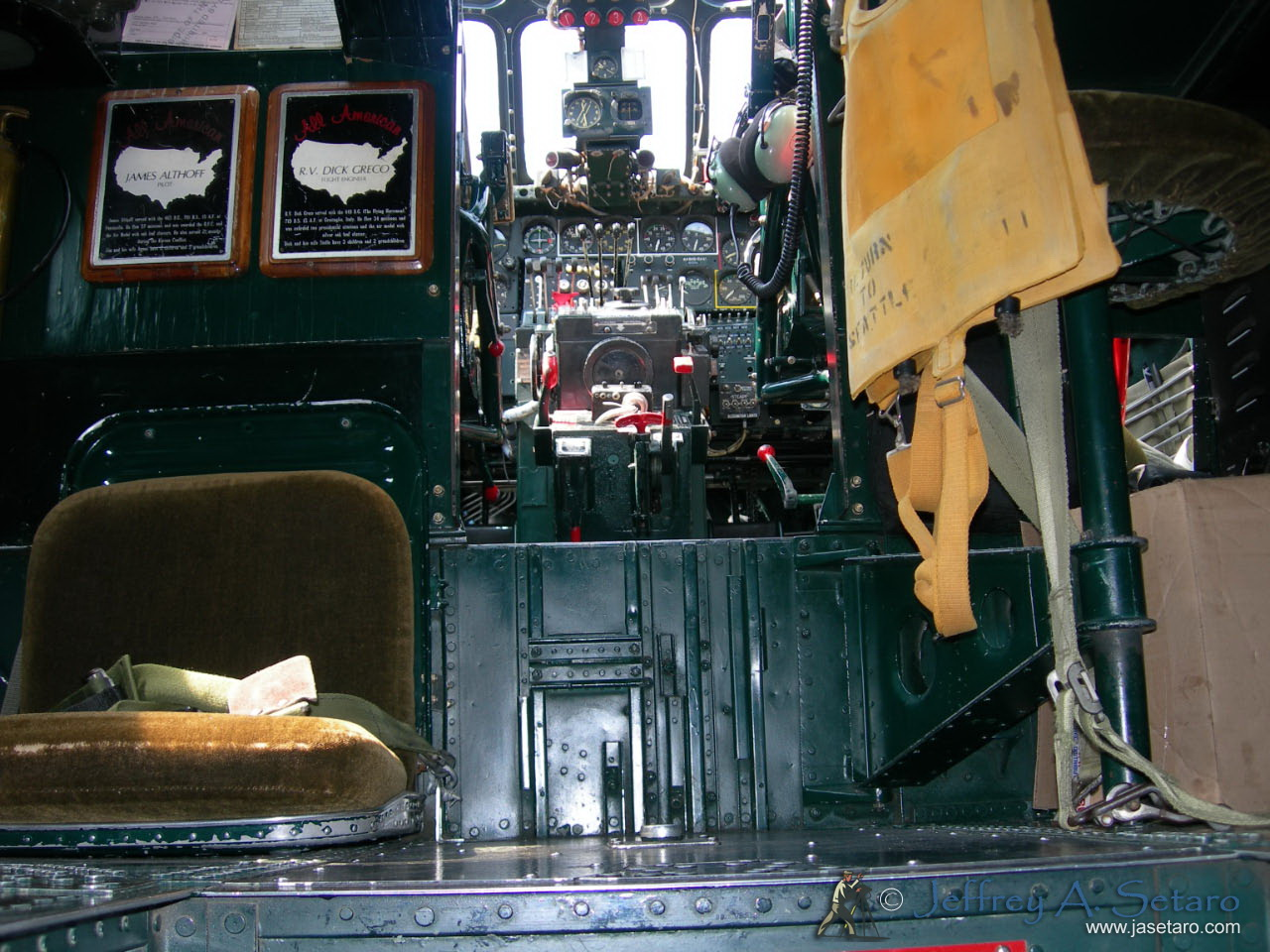 Witchcraft's interior facing forward towards cockpit.