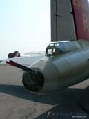 A close up look at the Nine O Nine's tail gun.