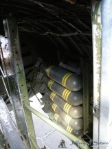 Dumby bombs in the Aluminum Overcast's bomb bay.