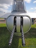 A close up look at the Aluminum Overcast's tail turret.