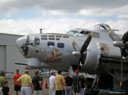 The nose of the Aluminum Overcast a WW II era B-17G operated by the EAA.