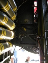 An interior view of the bomb bay.