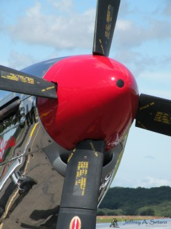 A close-up look at the Betty Jane's nose.