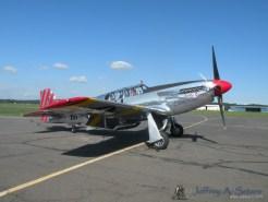 "The ""Betty Jane"" a World War II era North American TP-15C Mustang starting up."