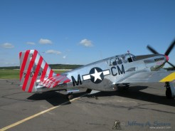 """The """"Betty Jane"""" a World War II era North American TP-15C Mustang taxiing out."""