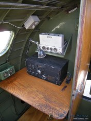 The radio operators station in the Nine O Nine.