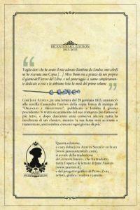 Quarta di copertina dell'edizione speciale per il Bicentenario, a cura della JASIT