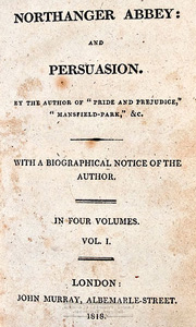 Northanger Abbey - Persuasion - 1818