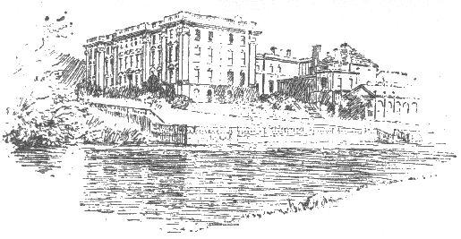 Ellen Hill: Stoneleigh Abbey dal fiume Avon