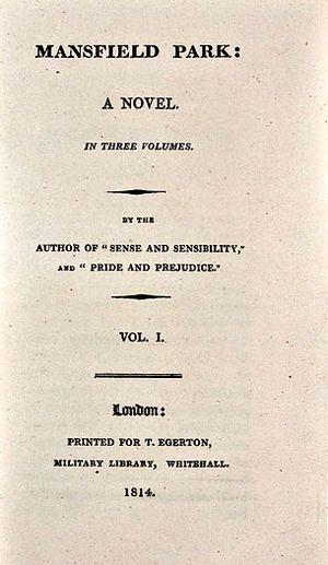 Mansfield Park. Prima edizione (Egerton, 1814)