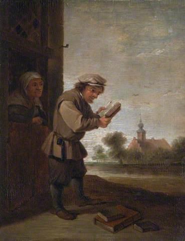 """""""Peasant Reading, Sense of Sight"""" (Contadino che legge. Senso della Vista), dipinto della contessa Morley"""