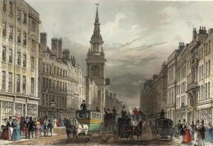 Londra. Cheapside nel 1823