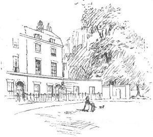 Londra, Hans Place in un disegno di Ellen Hill