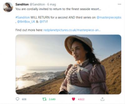 Sanditon annuncio del rinnovo della serie
